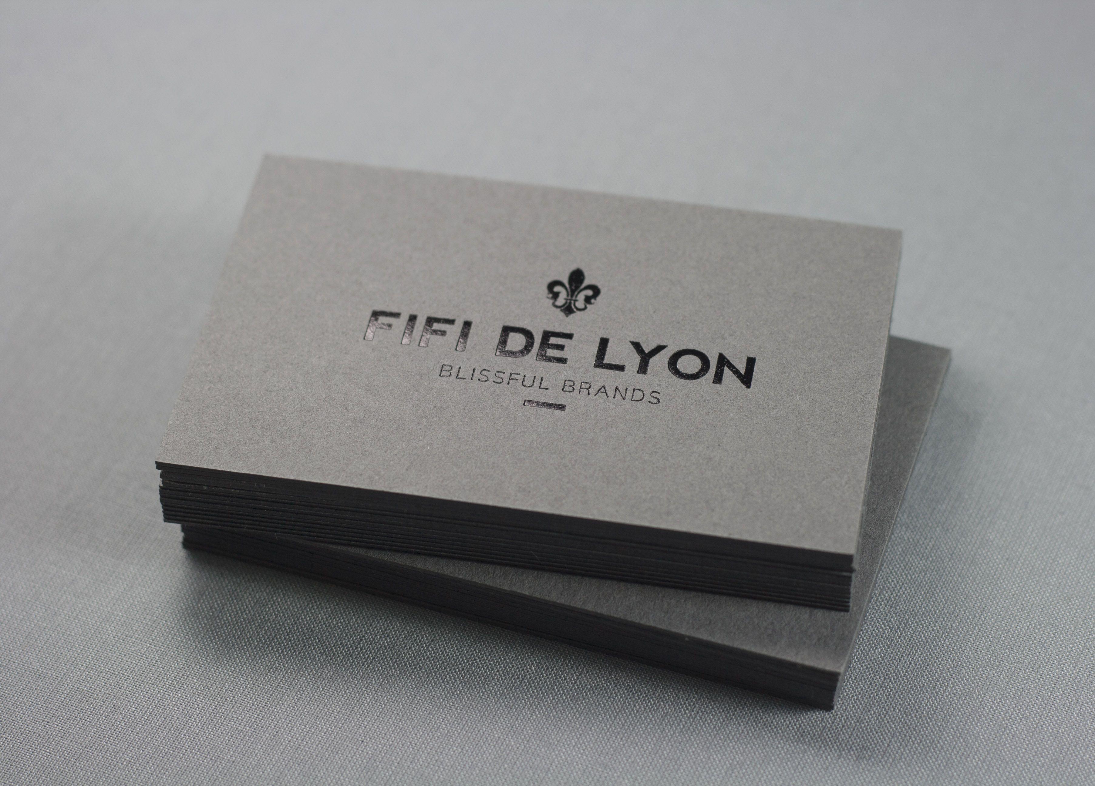Simple Design Business Cards Black Foil On Grey Paper Minimalistic Print Dot Studio Debossed Business Card Embossed Business Cards Graphic Designer Ideas
