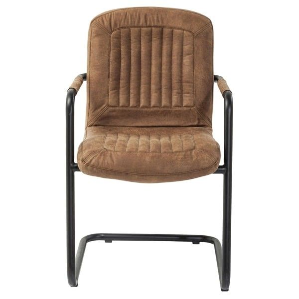 silla reposabrazos Chicago marrón | Tiendas On