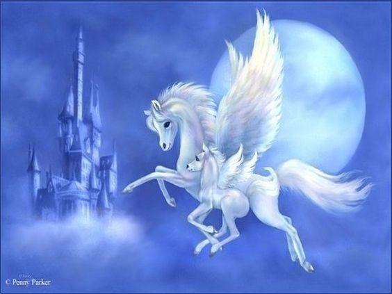 Les Creatures Fantastiques Pegase Fee Esel Feerie Art De Licorne Images Licorne Cheval Aile