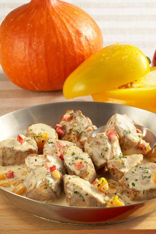 Rezept Schweinefilet in Gemüse-Käsesoße