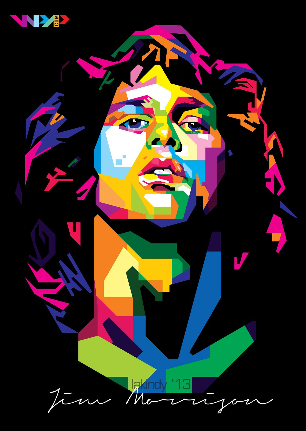 Jim Morrison By Lakindy Pop Art Portraits Pop Art Wpap Art