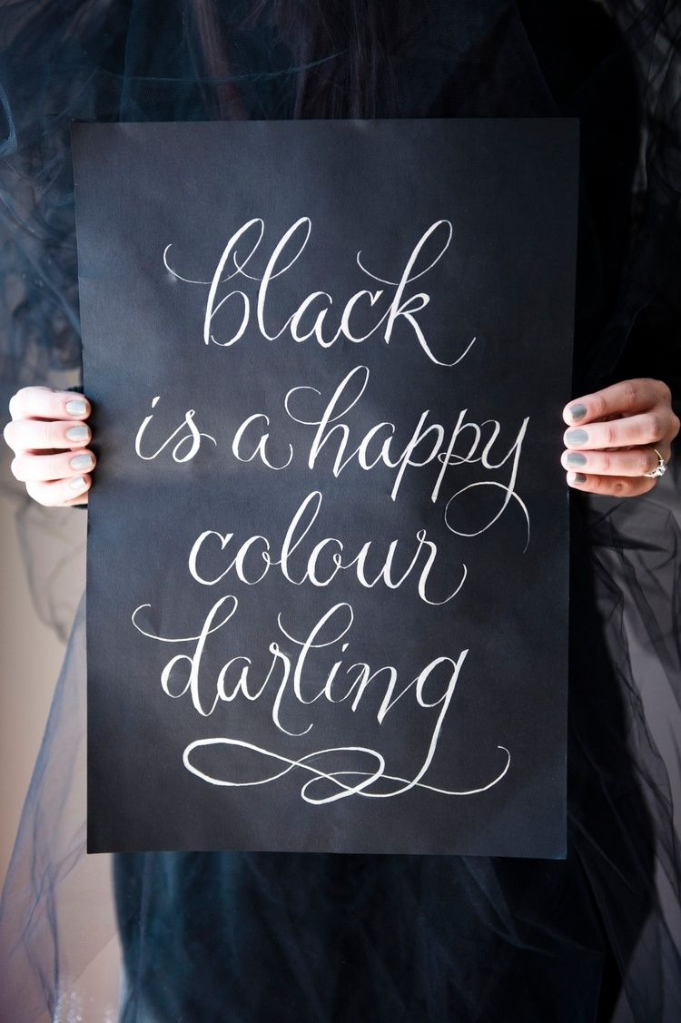 Black is a happy color my darling satin and snow ottawa wedding