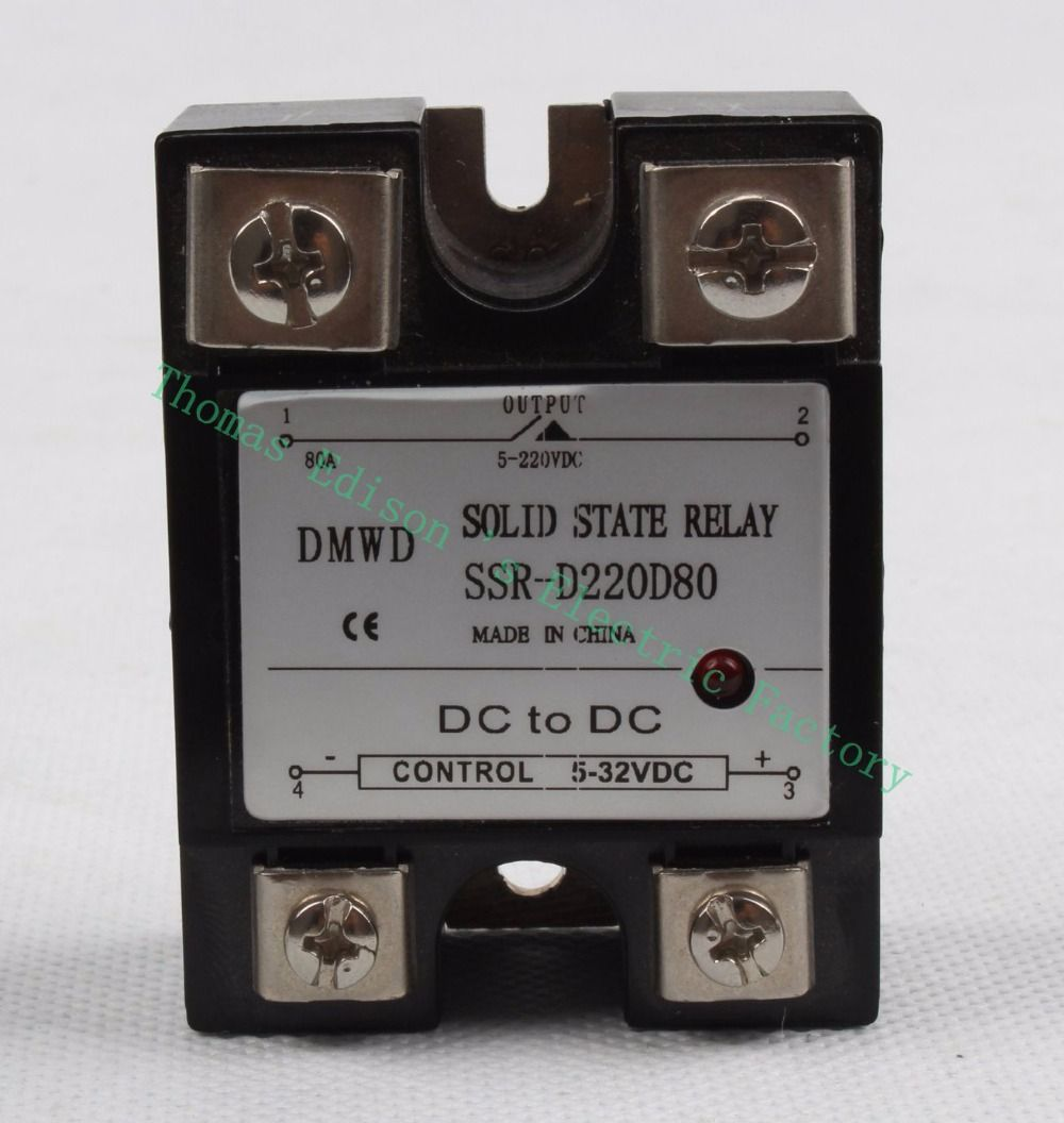 Top Brand Dmwd Solid State Relay With Indicator Ssr 80dd 80a 5 32v