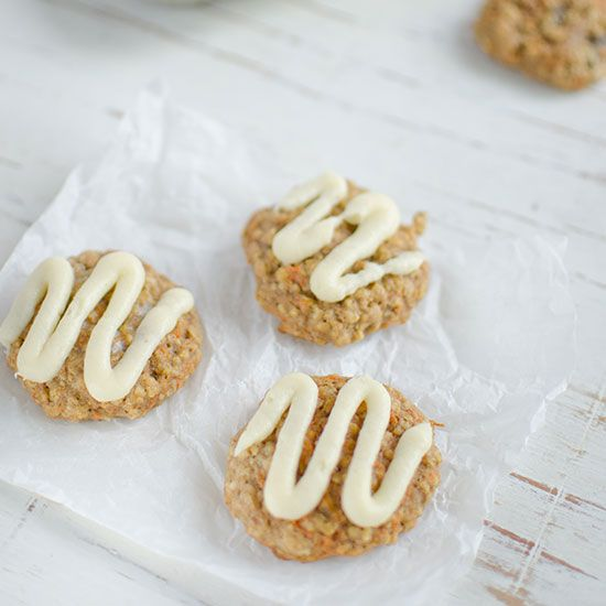 Oatmeal-Carrot Cookies with Cream Cheese Frosting   Food & Wine