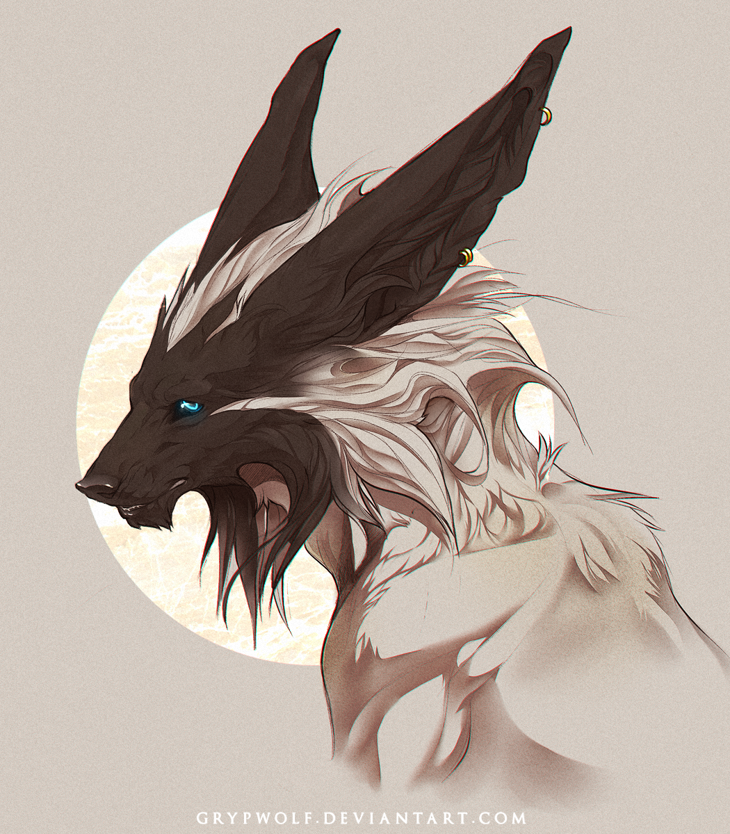 Аниме картинки волки с рогами