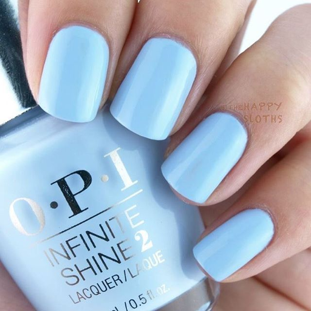 Light blue nail polish perfect for spring manicure #nail #manicure