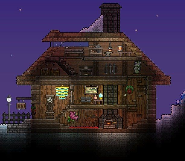 Terrarium Terraria House Design: Terraria Comfy Build's Comp 5