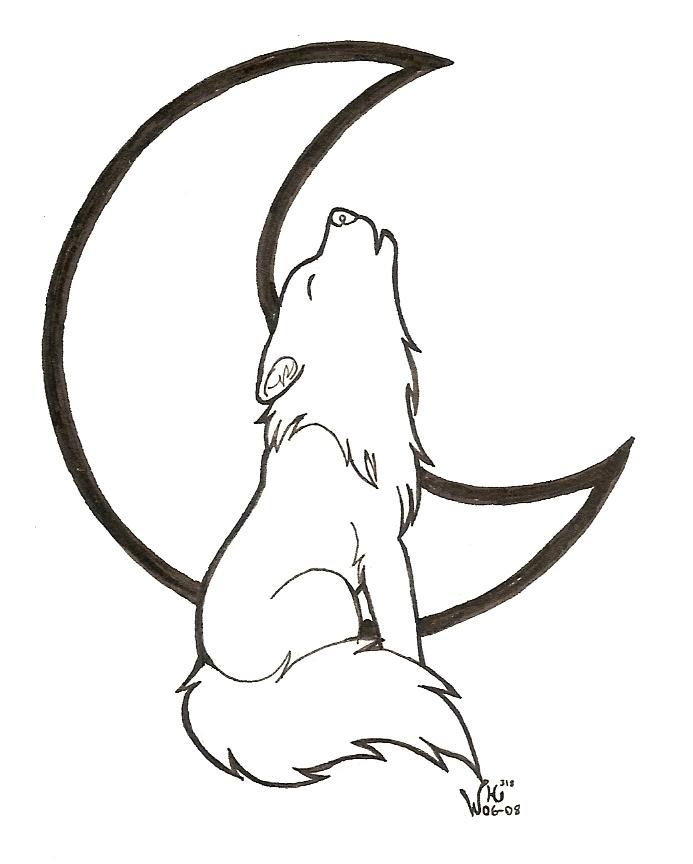 Chibi Howling Wolf Lineart By Wildhusky318 Wolf Drawing Easy Wolf Drawing Wolf Howling Drawing