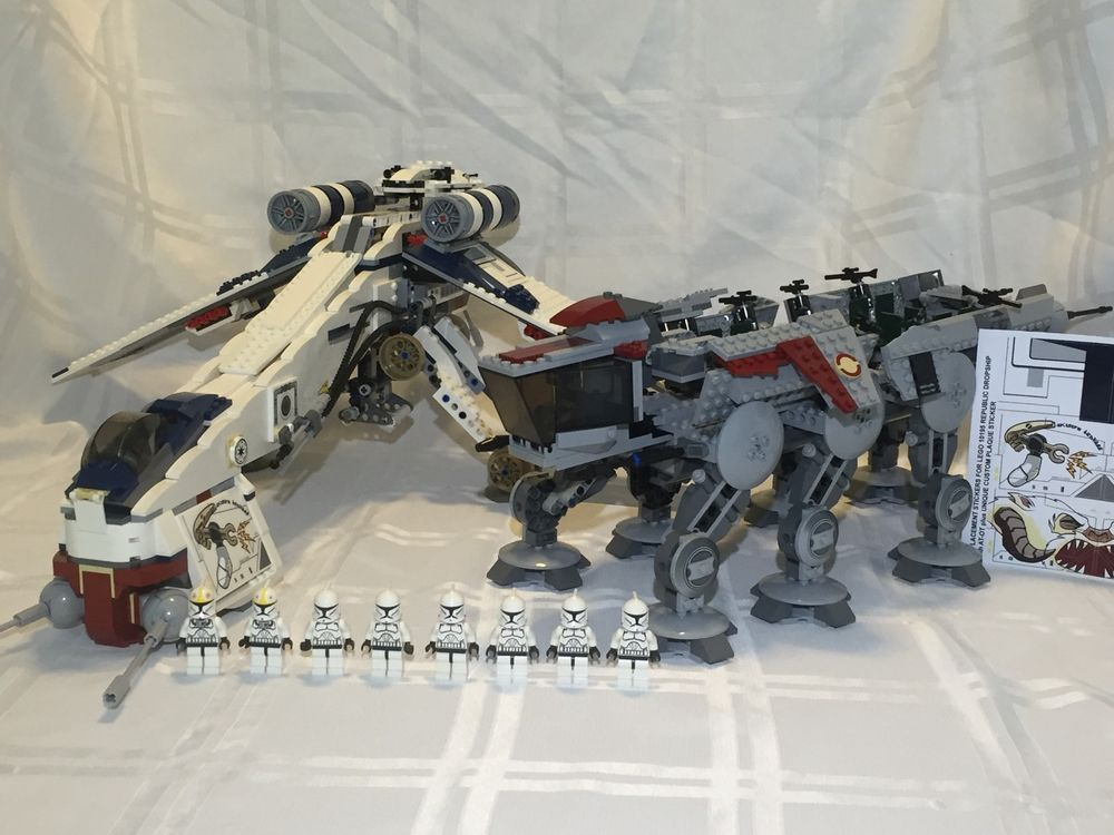 Lego Star Wars Clone Wars Dropship With At Ot 10195 100