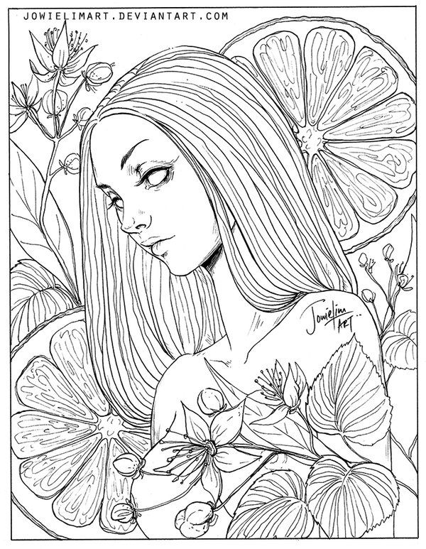 Fruit series lime by on for Fruit coloring pages for adults