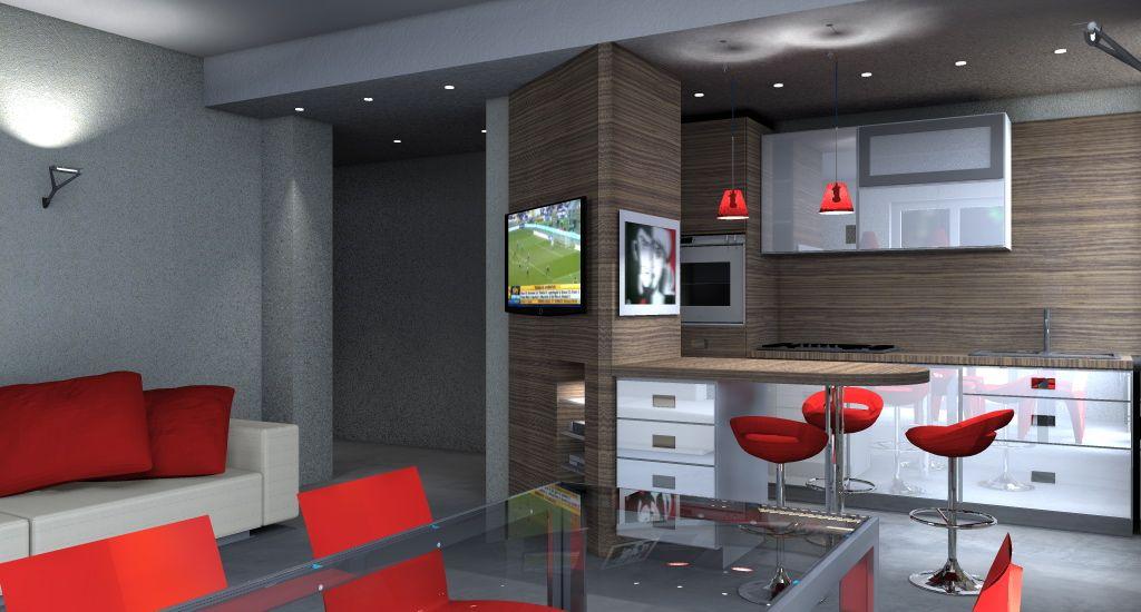 Stunning Idee Arredamento Cucina Soggiorno Ideas - Ideas & Design ...
