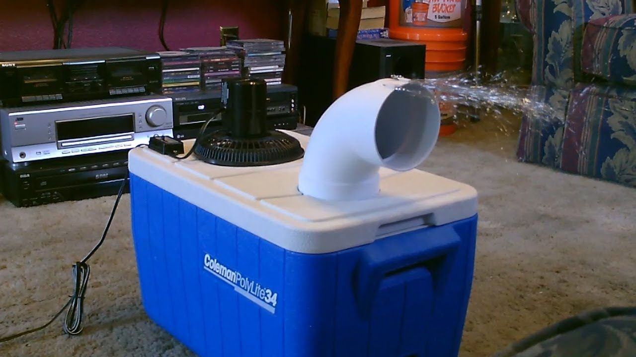 Homemade air conditioner DIY Awesome Air Cooler! EASY