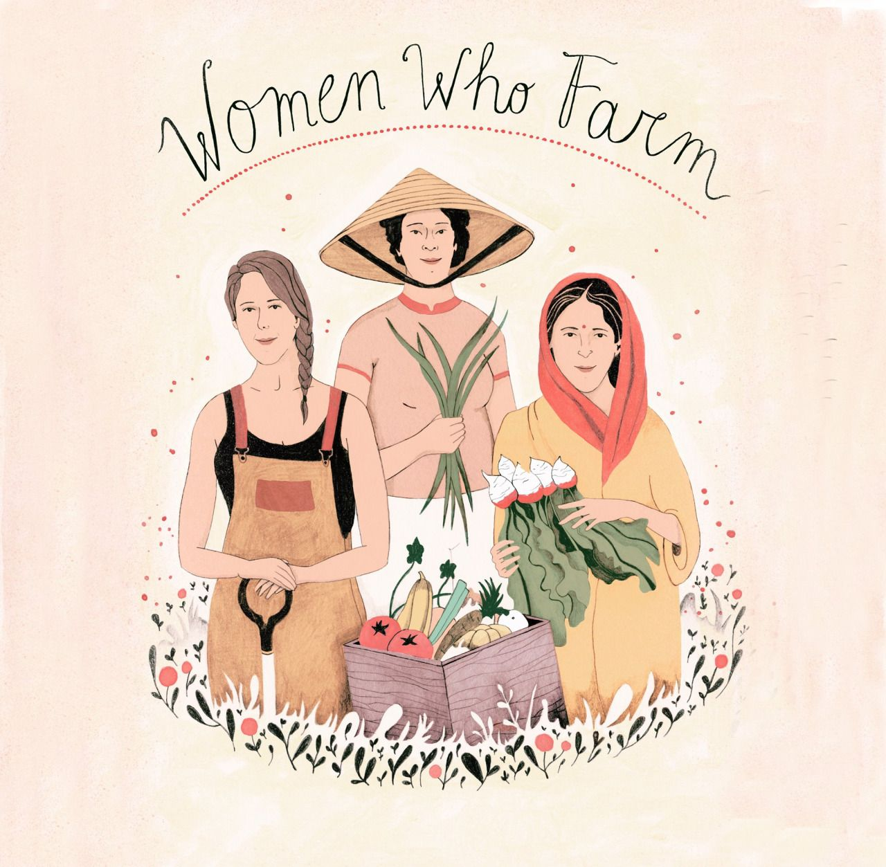 "hyperb0rean: "" I am a proud ""FarmHer"".;) Illustration by Luisa Rivera. """