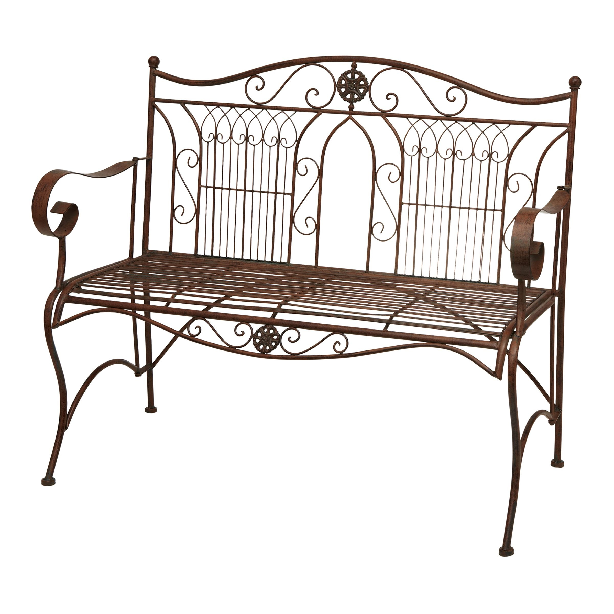 Marquee 113cm rustic iron bench dz181584 bunnings for Outdoor furniture bunbury