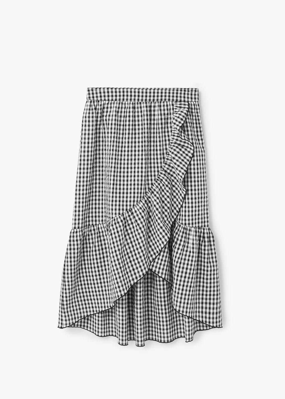 5dc22315c4309 Gingham print skirt - Women in 2019