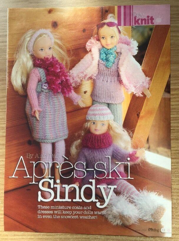 Alan Dart Sindy Dolls Clothes Toy Knitting Pattern Darts Knitting
