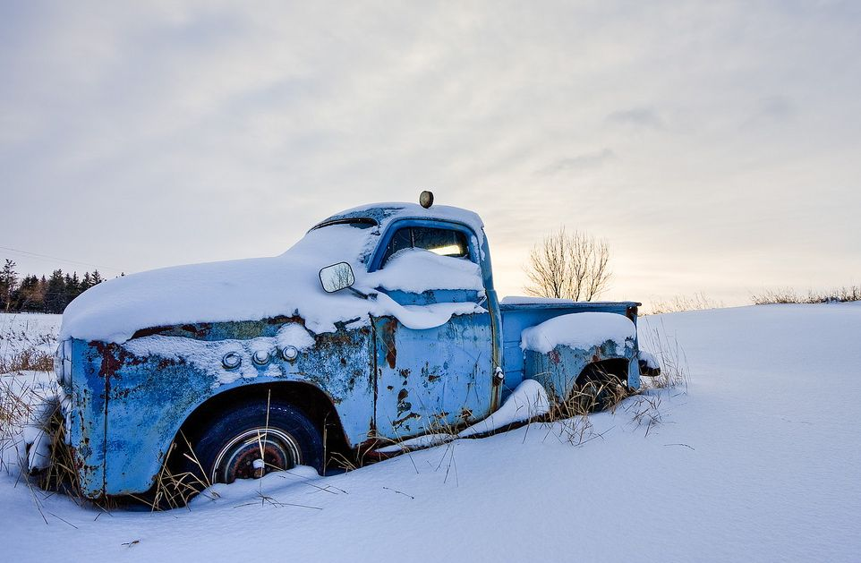 Rust in the snow