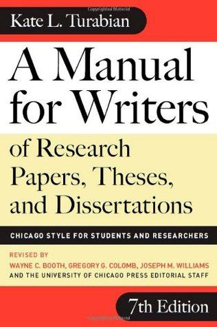 A Manual For Writer Of Research Paper These And Dissertation Chicago Style Student Researcher Thesi Term Dissertations