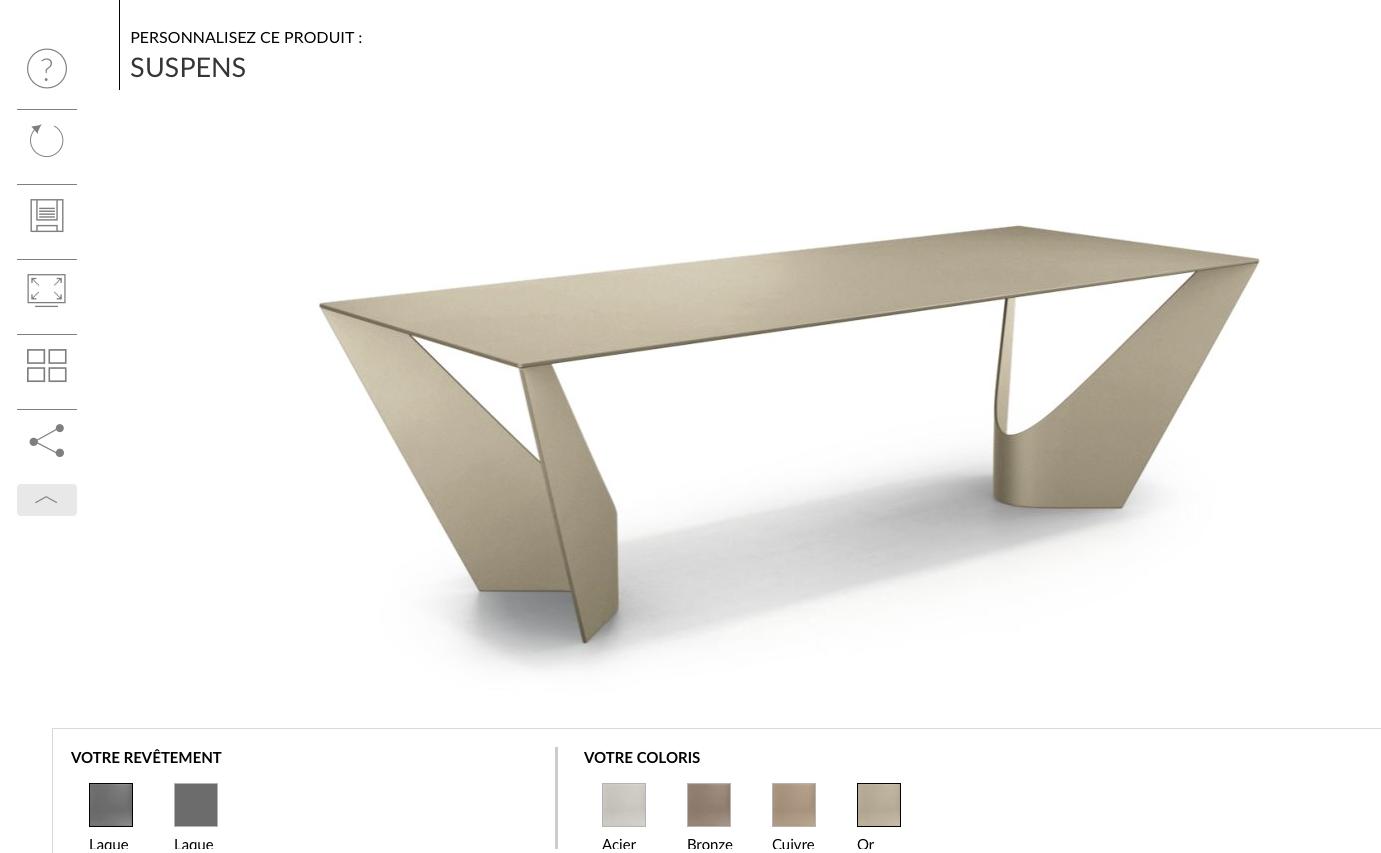 SUSPENS Roche Bobois BRONZE | Table et Table basse | Table ...