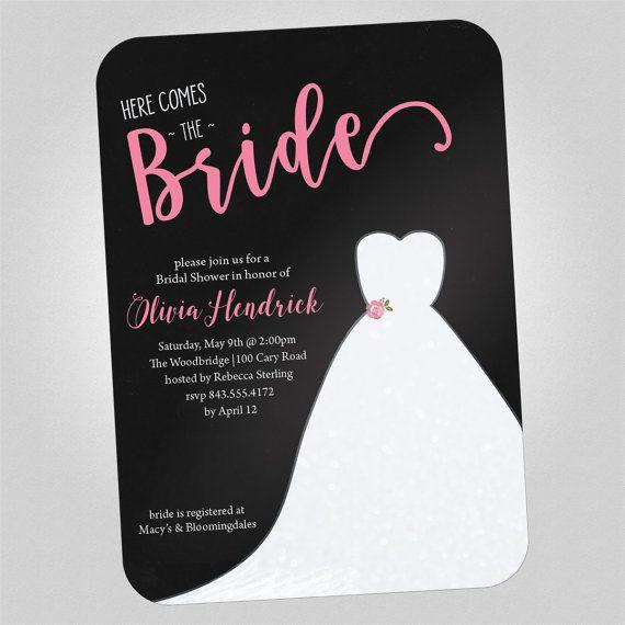 Printable - Bridal Shower Invitation, Bridal Shower Printable Invitation, Shower Template, Shower Invite