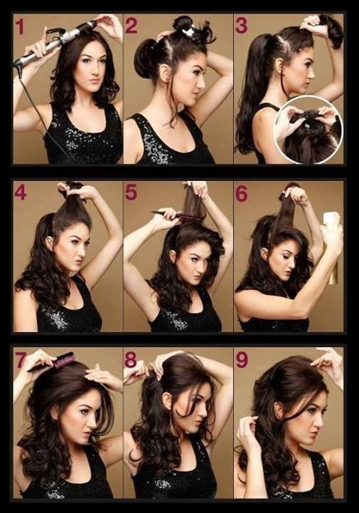 Peinados faciles y rapidos para pelo rizado