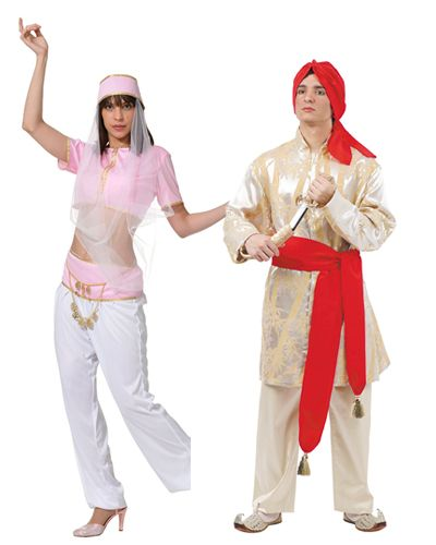 9ab62a75c Disfraz de #arabe para parejas. Chica de danza del vientre y bengalí ...