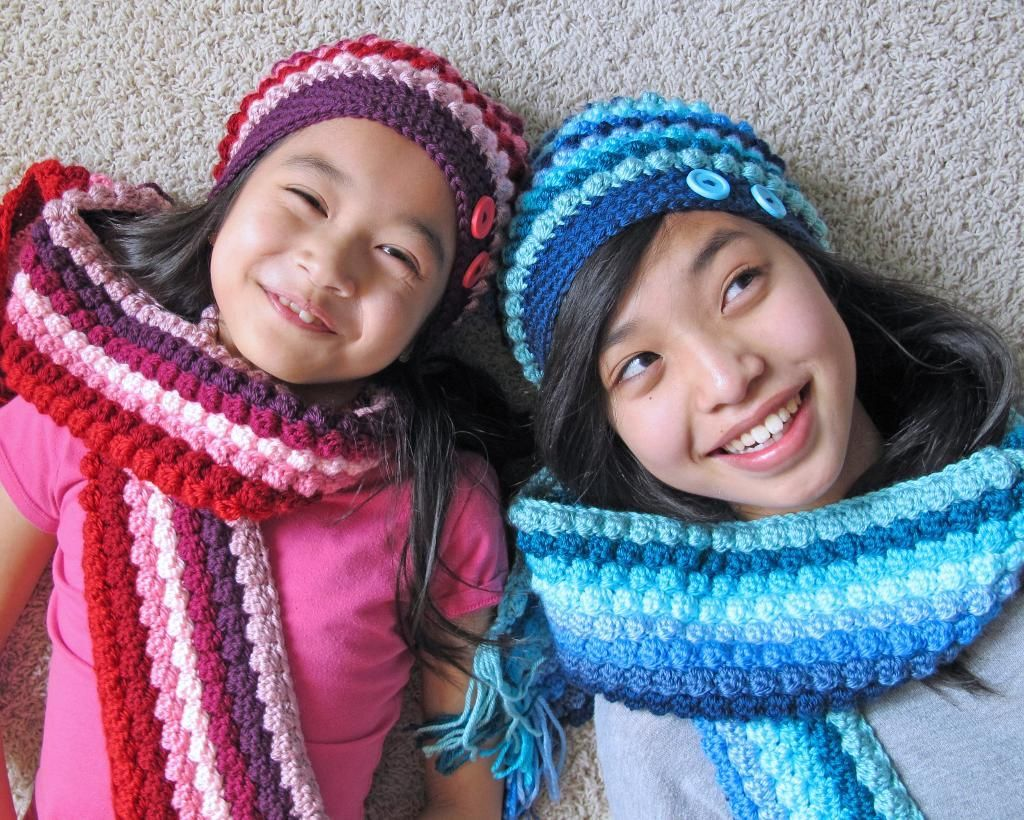 Bobblicious Scarf & ... by Marken | Crocheting Pattern - Looking for your next project? You're going to love Bobblicious Scarf & Hat ( in 3 sizes!) by designer Marken. - via @Craftsy