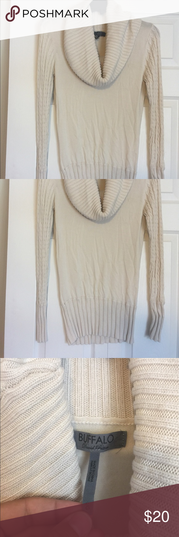 Buffalo Sweater | Cable, A b c and Cowl neck