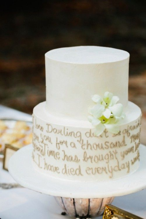A Lovely Way To Use Quote Here On This Wedding Cake Via