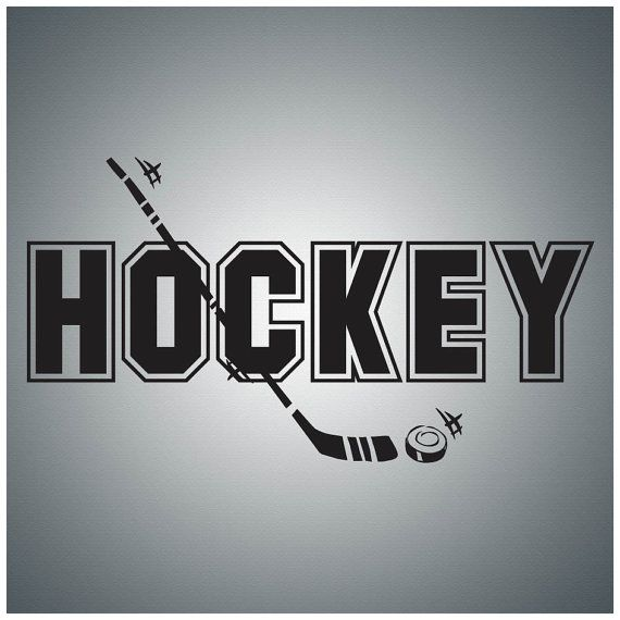 Hockey......Wall Quote Decal Vinyl Lettering Saying - SP009