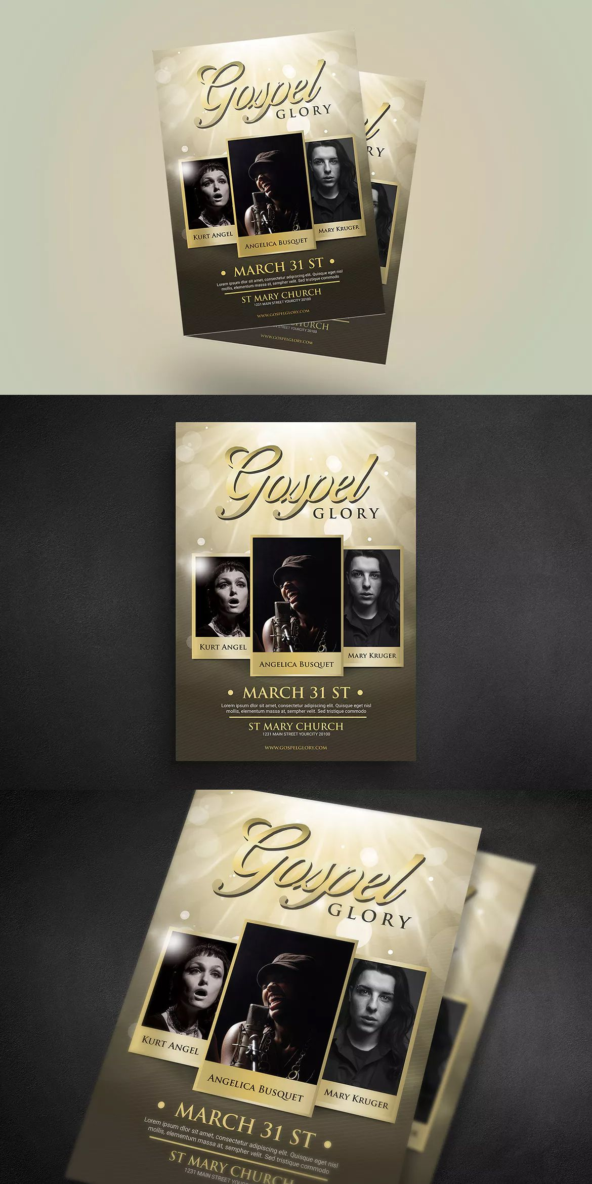 gospel flyer template psd a4