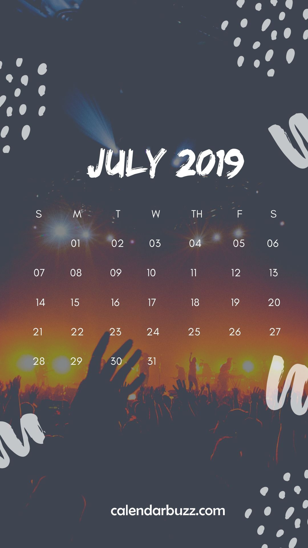 July 2019 Printable Wall Calendar For House, Office