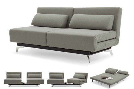 Apollo Grey Tweeds Convertible Sofa Bed Sleeper With 2 Matching