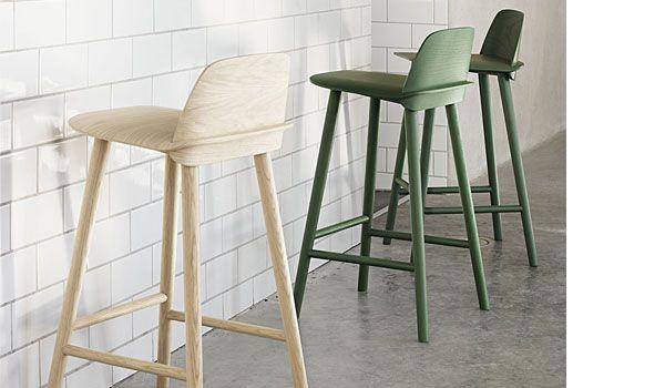 buy popular ba238 51ed1 Muuto nerd bar stool | Wood bar stools, Stool, Bar stools