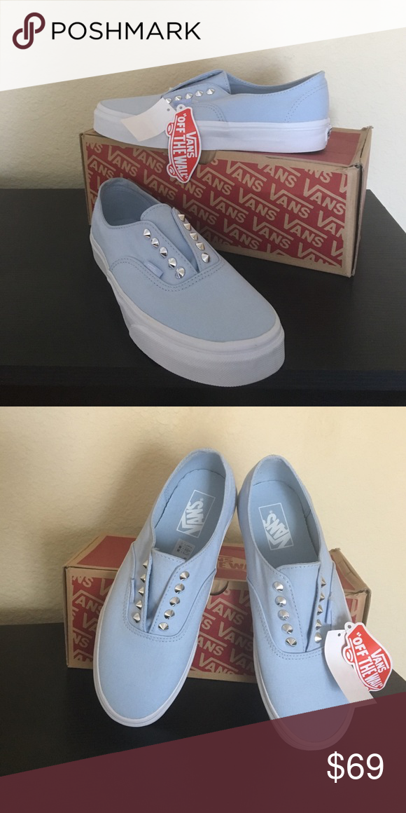 6aff9f15b4e400 Vans Baby Blue Skyway Stud Gore Shoes New with box Vans Shoes Athletic Shoes