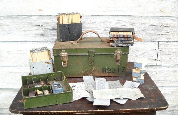 Vintage craft storage and organization
