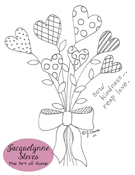 Valentine Bouquet Free Embroidery Pattern