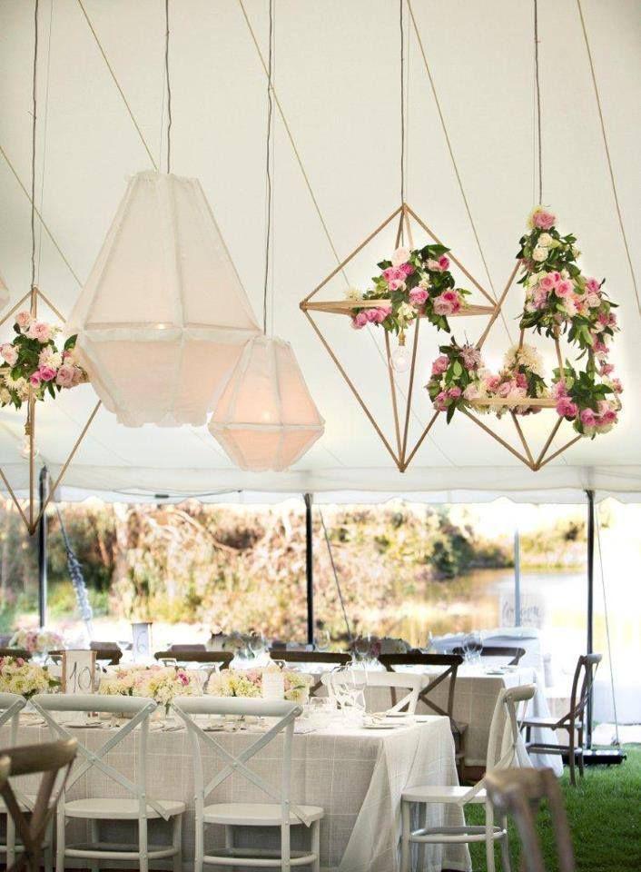 Geometric Floral Chandeliers Geometric Wedding Wedding Deco