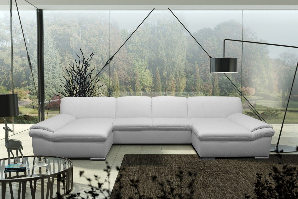 dreams4home polsterecke u form mike xxl big sofa ecksofa couch wahlw schlaffunktion kunstleder. Black Bedroom Furniture Sets. Home Design Ideas