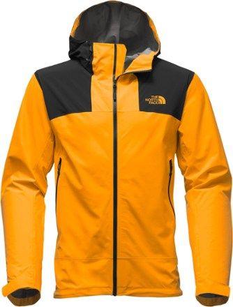 344e47e7e62f The North Face Men s Leonidas 2 Rain Jacket Zinnia Orange Black XXL