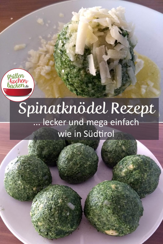 Spinatknödel Rezept wie in Südtirol - einfach & vegetarisch
