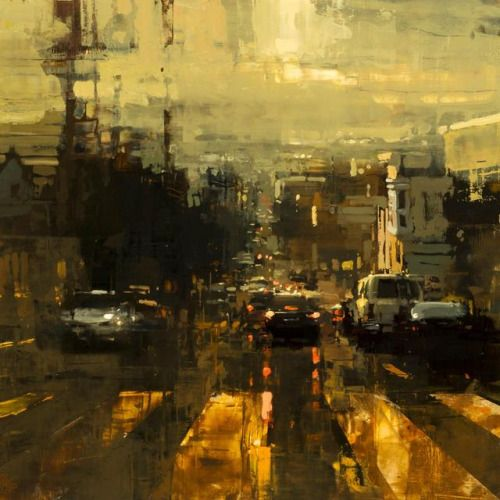 A Passed Afternoon Storm Jeremy Mann Oil on Panel 2017 via...