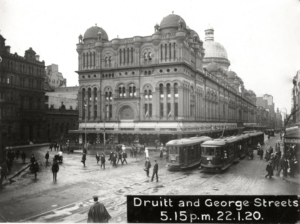 Sydney, Australia January 22 1920 Trams operating on