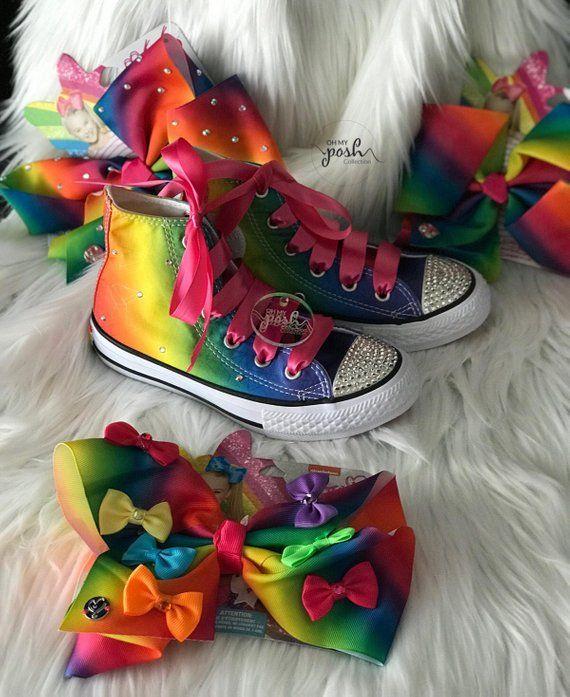 fa51901e61c20 Jojo Siwa Inspired Dream Tour Custom Rhinestone Converse Shoes and ...
