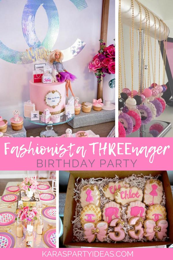 Fashionista Threenager Birthday Party Kara S Party Ideas Third Birthday Girl Barbie Birthday Party 3rd Birthday Party For Girls
