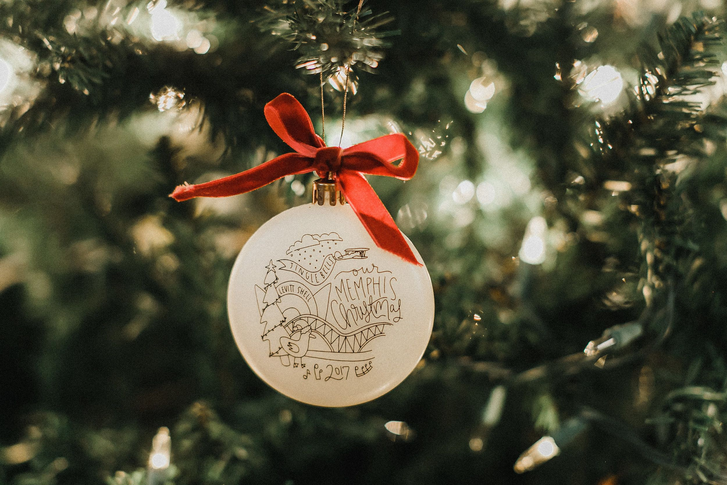 Memphis Tennessee Christmas Ornament Gift Holiday Christmas Ornaments Gifts Holiday Christmas Gifts Tennessee Christmas