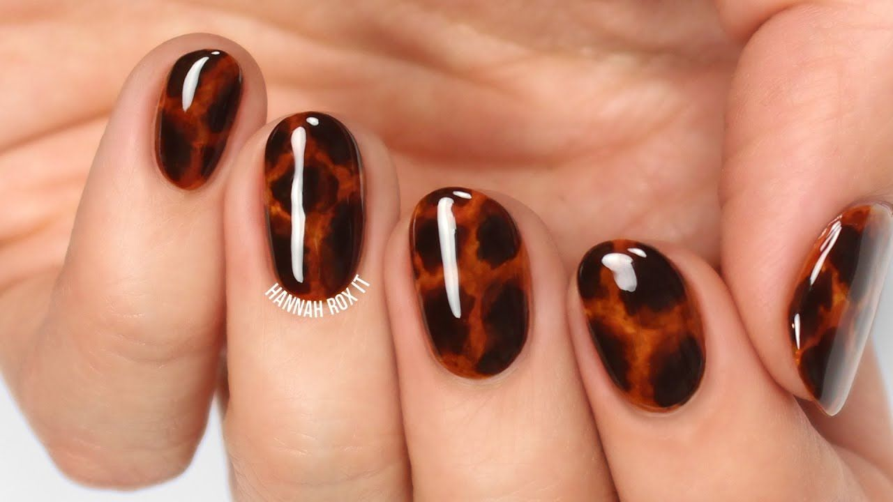 Photo of Tortoise Shell Nail Art (without gel!)
