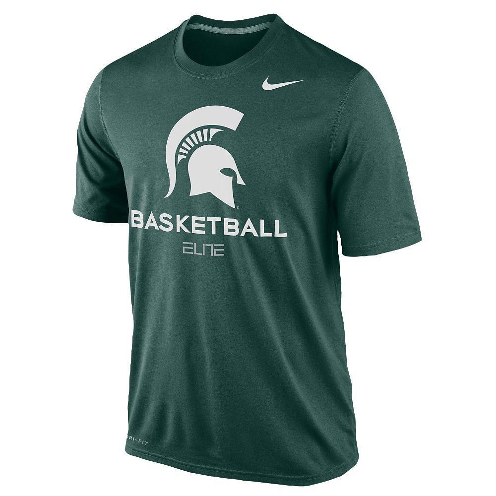 New NWT Michigan State Spartans Basketball Nike Elite