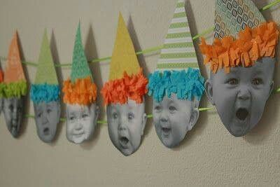 So gonna do this for my Grandchildren.... I also think it would be a great idea (minus hats) to print out one for each year of your child/grandchild's life to put up at a Graduation Party.