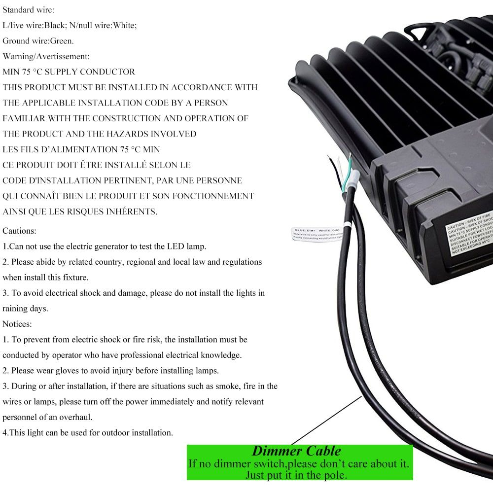 LED Shoebox Light Wiring Diagram with Motion Sensor ...
